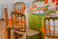Tischdekoration-Country-orange-grün-M