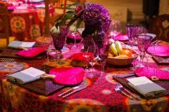 Tischdekoration-exotisch-lila-pink-orange-M