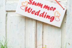 Schild-Summer-Wedding-+-Obst-vintage-M